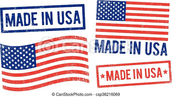 Made in USA stamps - csp36216069