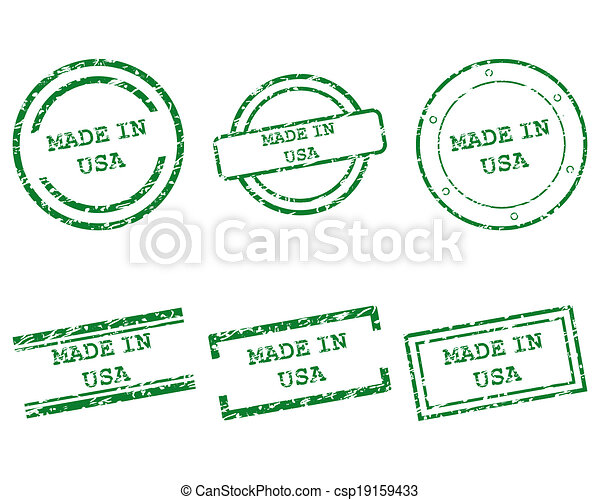 Made in USA stamps - csp19159433