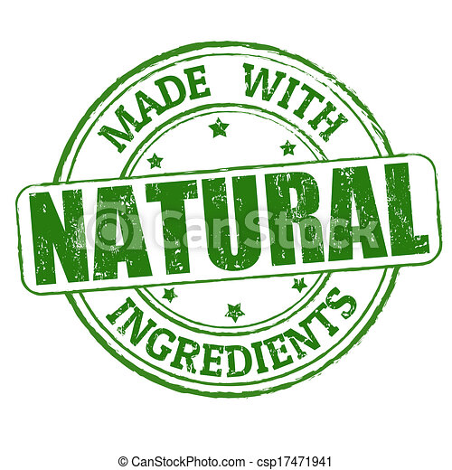 Made with natural ingredients stamp - csp17471941