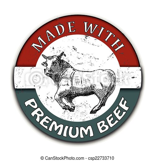 made with premium beef  - csp22733710