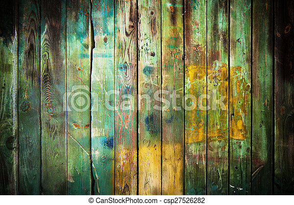 madeira, antigas, fundo - csp27526282