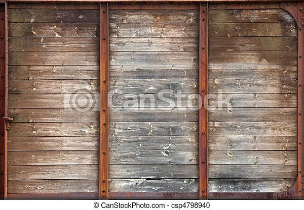 madeira, antigas, textura - csp4798940
