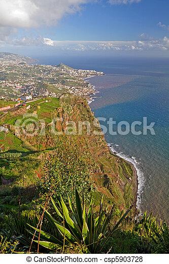 Madeira coastline. - csp5903728