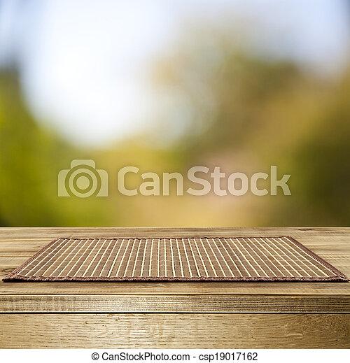 madeira, lavado, objetos, fundo, tabela, seu, saída - csp19017162