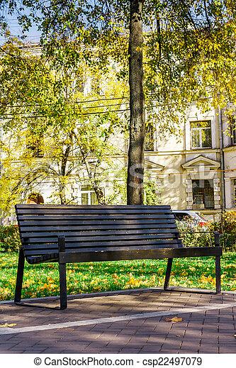 madeira, parque cidade, quieto, banco - csp22497079