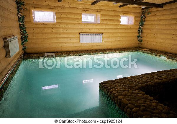 madeira, piscina, sauna - csp1925124