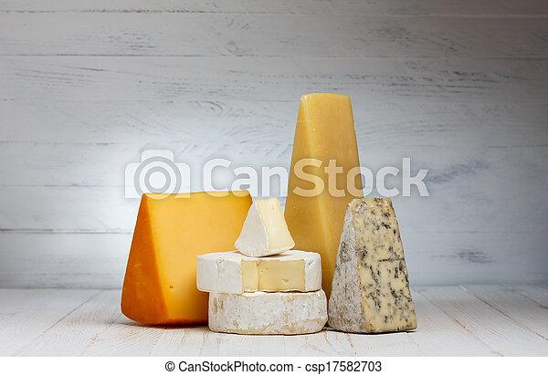 madeira, queijo, variedade, tabela - csp17582703