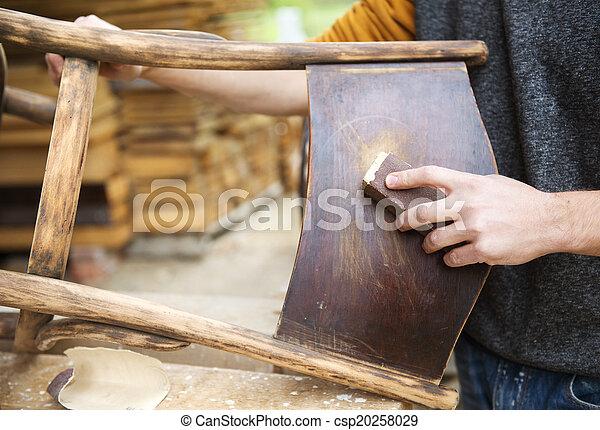 madeira, restauração, mobília - csp20258029
