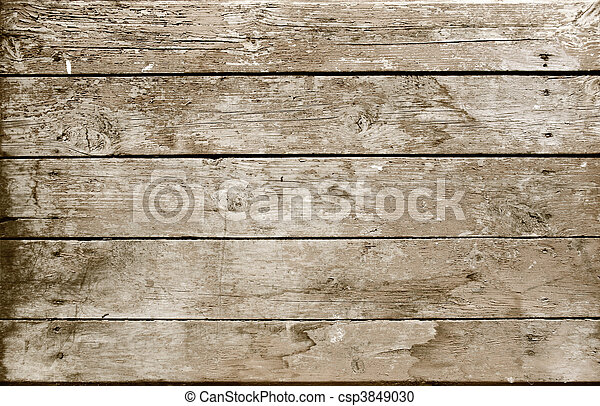 madeira, sepia, prancha, resistido - csp3849030