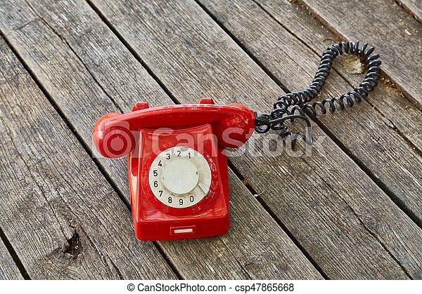 madeira, telefone velho, placas - csp47865668