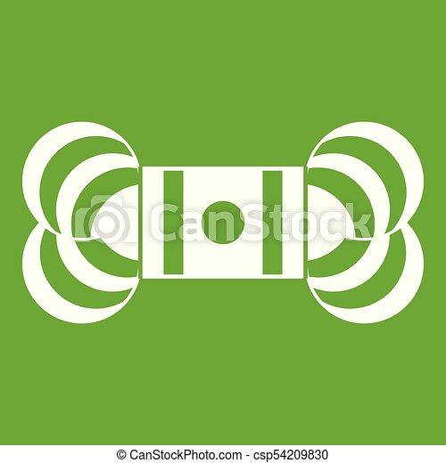 madeja, verde, hilo, icono - csp54209830