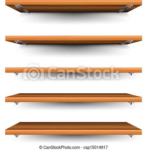 Madera conjunto estantes Alturas diferente conjunto madera