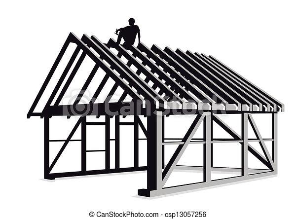 Carpintero y construcción de madera - csp13057256