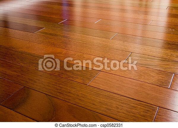 Piso de madera de cerezo brasileño - csp0582331