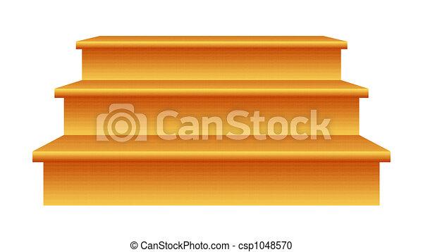 Escaleras de madera - csp1048570