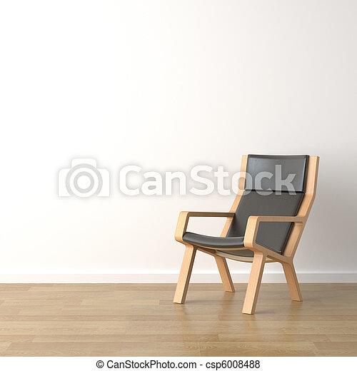 Sillones de madera en blanco - csp6008488