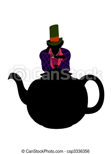 MadHatter Silhouette Illustration - csp3336356