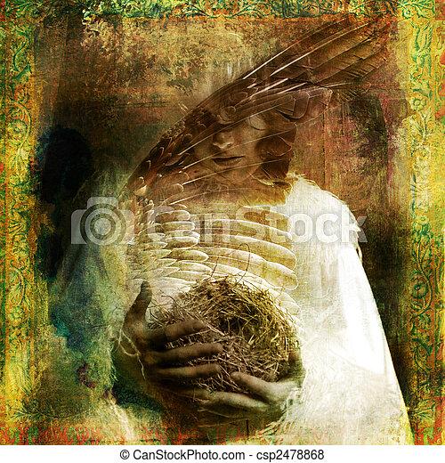 Bird madonna - csp2478868