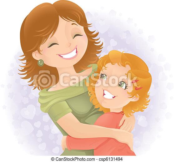 El día de las madres ilustraciones de saludo. - csp6131494