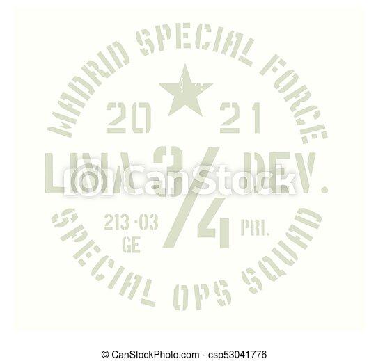 Madrid military badge - csp53041776