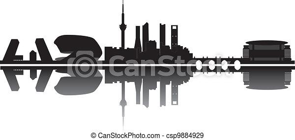 madrid skyline - csp9884929