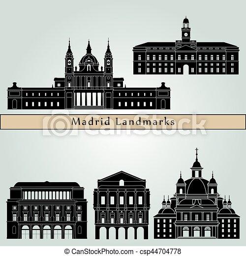 Madrid V2 Landmarks - csp44704778