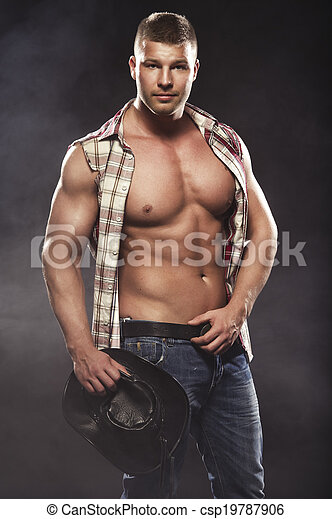 maenner, mögen, cowboy, sexy - csp19787906