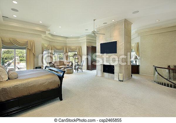 El dormitorio principal con chimenea - csp2465855