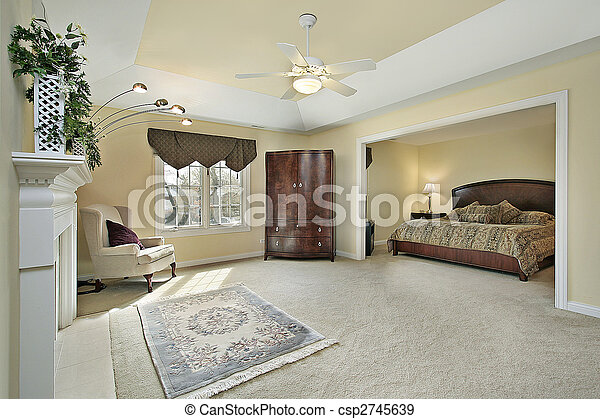 El dormitorio principal con chimenea - csp2745639