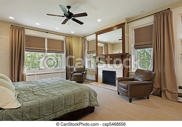 El dormitorio principal con chimenea - csp5468656