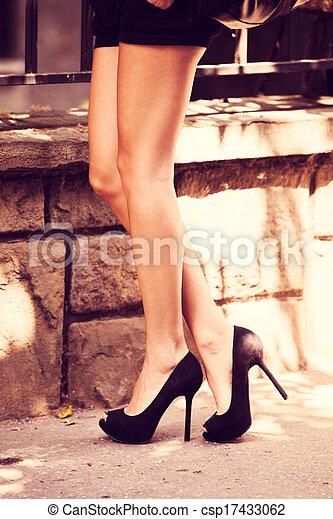 magas, cipők, megsarkal - csp17433062