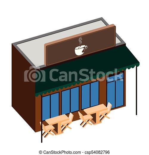 magasin, café, isolé - csp54082796