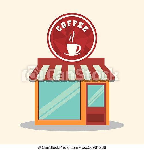 magasin, café, magasin, marché, restaurant - csp56981286