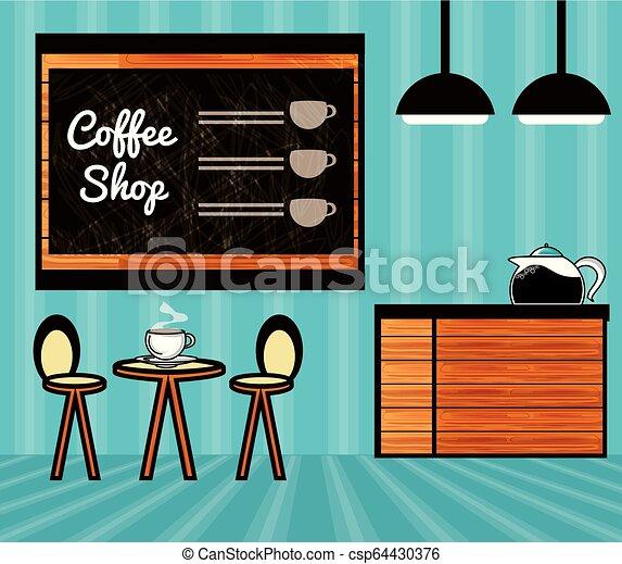 magasin, café, scène, restaurant - csp64430376