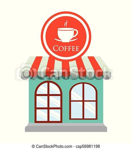 magasin, décoratif, café, restaurant - csp56981198
