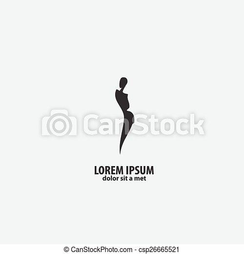 magasin, girl, mode, logo - csp26665521