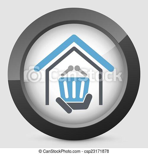 magasin, icône - csp23171878