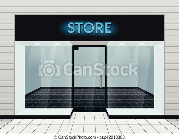 magasin, illustration, vecteur, devant, ou, magasin, vue - csp42213383