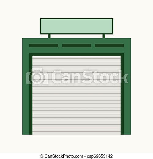 magasin, réparation, concept, business, auto, bleu, isolé, illustration, fond, vecteur - csp69653142