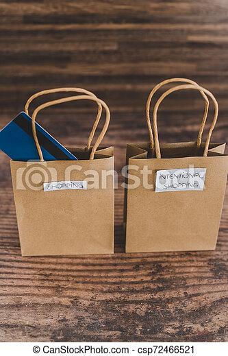 magasin, sacs, étiquettes, une, carte, paymen, sauter, dehors - csp72466521