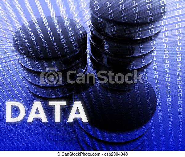 magasinering data, illustration - csp2304048