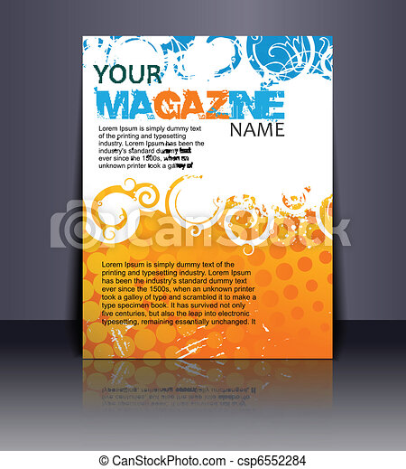 Magazine layout design template. vector illustration .