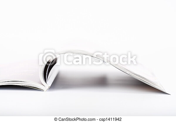magazine, ouvert - csp1411942