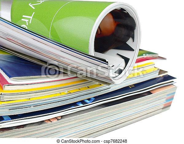 magazines., mucchio - csp7682248