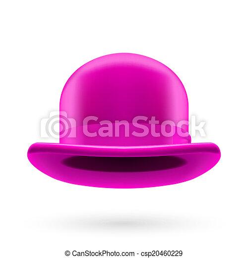 Magenta bowler hat - csp20460229