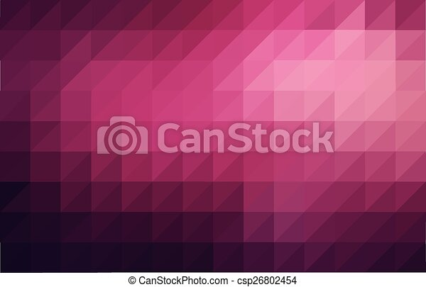 Magenta colored triangular pattern background - csp26802454