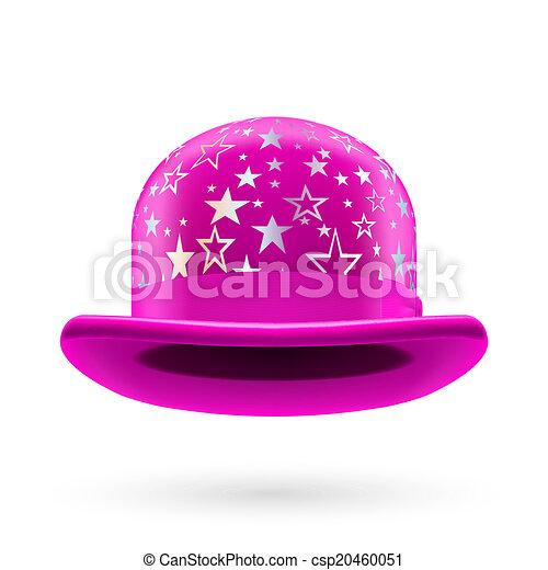 Magenta starred bowler hat - csp20460051