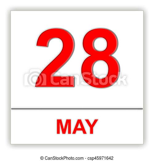 Calendario Giorno.Maggio Calendario Giorno 28