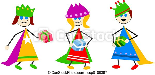 magi kids kids dressed as the three kings for the nativity stock rh canstockphoto com three kings clipart three wise kings clipart