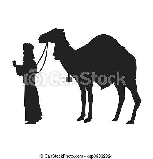 magi with camel silhouette icon - csp39032324